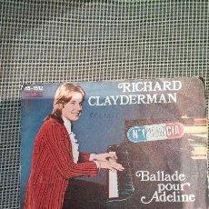 Discos de vinilo: RICHARD CLAYDERMAN-BALLADE POUR ADELINE. Lote 47734818