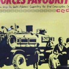Discos de vinilo: FORCES FAVORURITES-LP-CANADA-1986+LIBRETO. Lote 47737396