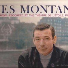 Discos de vinilo: LP-YVES MONTAND ONE MAN SHOW-PHILIPS 7350-UK 1959-THEATRE DE L´ETOILE PARIS 1958. Lote 47738368