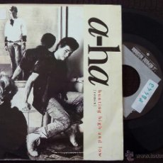 Discos de vinilo: A-HA, HUNTING HIGH AND LOW (WEA 1986) SINGLE ESPAÑA PROMOCIONAL. Lote 47741912