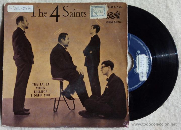 4 SAINTS, THE - TRA LA LA +3 (PATHE 1959) SINGLE EP ESPAÑA - FOUR (Música - Discos de Vinilo - EPs - Funk, Soul y Black Music)