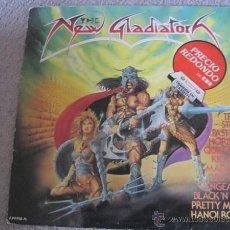 Discos de vinilo: VV.AA. - THE NEW GLADIATORS - LP EPIC 1986 - FASTWAY, PRETTY MAIDS, HANOI ROCKS, QUIET RIOT.... Lote 47744824