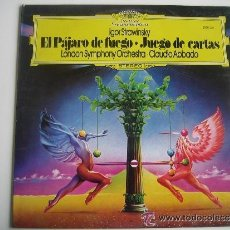 Discos de vinilo: EL PÁJARO DE FUEGO / JUEGO DE CARTAS IGOR STRAVINSKY. Lote 47746528