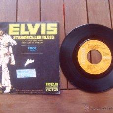 Discos de vinilo: ELVIS PRESLEY SINGLE STEAMROLLER BLUES MADE IN SPAIN 1973. Lote 47764173