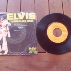 Discos de vinilo: ELVIS PRESLEY SINGLE STEAMROLLER BLUES MADE IN SPAIN 1973. Lote 47764278