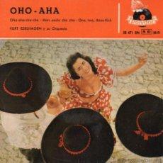 Discos de vinilo: KURT EDELHAGEN Y SU ORQUESTA, EP, OHO-AHA-CHA-CHA + 3 ,AÑO 1959. Lote 47766461
