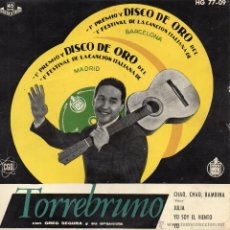 Discos de vinilo: TORREBRUNO, EP, CHAO CHAO BAMBINA (PIOVE) + 3 ,AÑO 1959. Lote 47766685