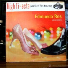 Discos de vinilo: EDMUNDO ROS AND HIS ORCHESTRA - HIGH FI-ESTA [PERFECT FOR DANCING] - (LONDON LL 3000). Lote 47746341