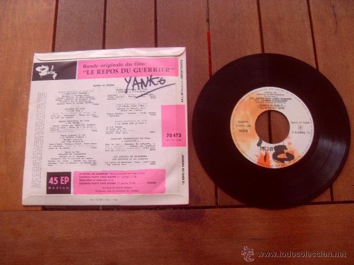 Discos de vinilo: LE REPOS DU GUERRIER BRIGITTE BARDOT EP ORIGINAL SOUNDTRACK MADE IN FRANCE 1962 - Foto 2 - 47776640