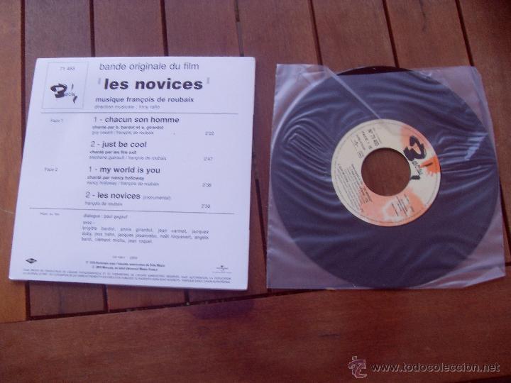 Discos de vinilo: LES NOVICES BRIGITTE BARDOT EP ORIGINAL SOUNDTRACK MADE IN FRANCE 2010 - Foto 2 - 47777215