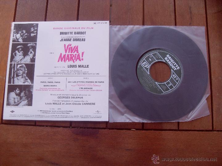 Discos de vinilo: VIVA MARIA BRIGITTE BARDOT EP ORIGINAL SOUNDTRACK MADE IN FRANCE 2010 - Foto 2 - 47777735