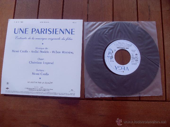 Discos de vinilo: UNE PARISIENNE BRIGITTE BARDOT EP ORIGINAL SOUNDTRACK MADE IN FRANCE 2010 - Foto 2 - 47777956