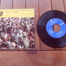 Discos de vinilo: TENHA PENA DE MIM CARNAVAL RIO DE JANEIRO BRIGITTE BARDOT EP ORIGINAL SOUNDTRACK MADE IN FRANCE 1961. Lote 47778102