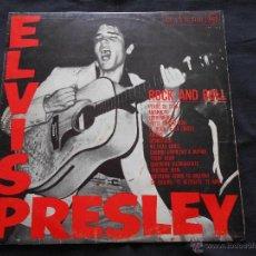 Discos de vinilo: ELVIS PRESLEY // ROCK AND ROLL // EDIC. ESPAÑOLA RCA LSP-1707. Lote 47780471