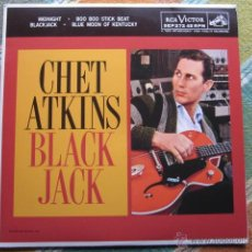 Discos de vinilo: CHET ATKINS - BLACK JACK - EP - MADE IN USA IN 2013 - RECORD STORE DAY - SUNDAZED SEP 272.-RED VINYL. Lote 47780867