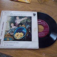 Discos de vinilo: HANDEL. CONCIERTO GROSSO EN FA MAYOR. OP. 6, Nº 2. Lote 47782432