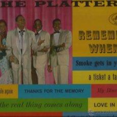 Discos de vinilo: LP-THE PLATTERS REMEMBER WHEN-MERCURY 20410-USA 1959. Lote 47783288