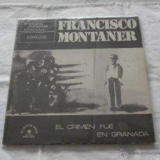 Discos de vinilo: FRANCISCO MONTANER LP EL CRIMEN FUE EN GRANADA 1974 (EDICION FRANCIA) EDITA LE CHAMT DU MONDE. Lote 47783829