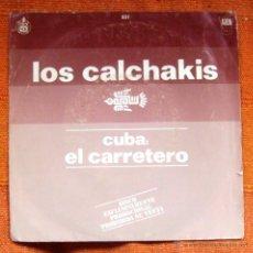 Discos de vinilo: SINGLE VINILO LOS CALCHAKIS FOLK. Lote 47792677
