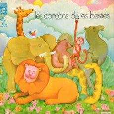 Discos de vinilo: JOSEP M. ESPINAS - FRANCESC BURRULL, EP, LES CANÇONS DE LES BÈSTIES + 3, AÑO 1970. Lote 47794689