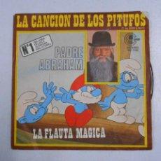 Discos de vinilo: PADRE ABRAHAM - LA CANCION DE LOS PITUFOS / FLAUTA MAGICA. TDKDS2. Lote 47797100