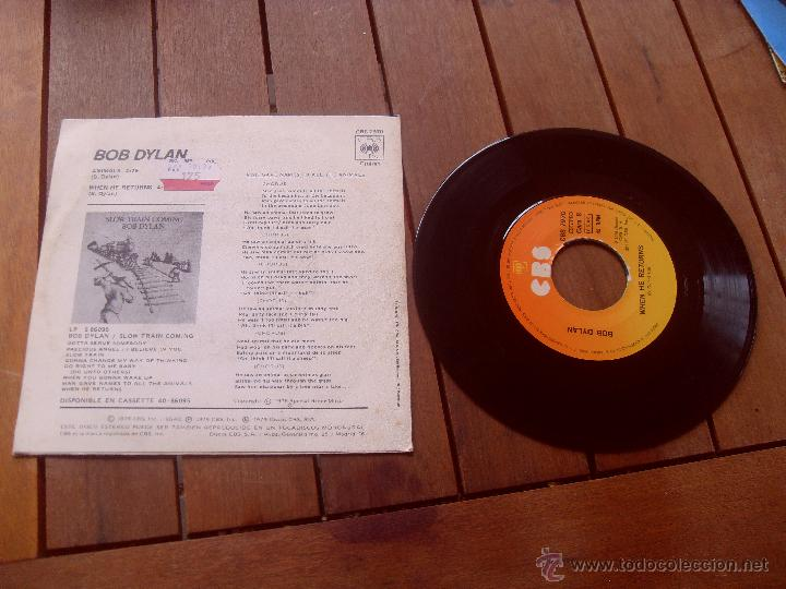 Discos de vinilo: BOB DYLAN SINGLE ANIMALS MADE IN SPAIN 1979 - Foto 2 - 47797573
