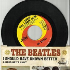 THE BEATLES single A Hard Day's Night/I Should Have Known Better.u.s.a.capitol 5222.probado y oido