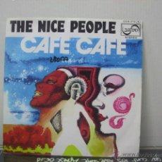 Discos de vinilo: THE NICE PEOPLE - CAFE CAFE - ZAFIRO 1976. Lote 47801284