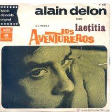Discos de vinilo: LOS AVENTUREROS - ALAIN DELON (LAETITIA) - DIARIO DE A BORDO / LOS AVENTUREROS + 1 (EP ARGENTINO 68). Lote 47801647