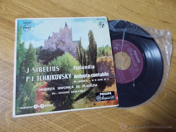 J. SIBELIUS. FINLANDIA. P.I. TCHAIKOVSKY. ANDANTE CANTABILE. DEL CUARTETO Nº 1 EN RE MAYOR OP. 11 (Música - Discos - Singles Vinilo - Clásica, Ópera, Zarzuela y Marchas)