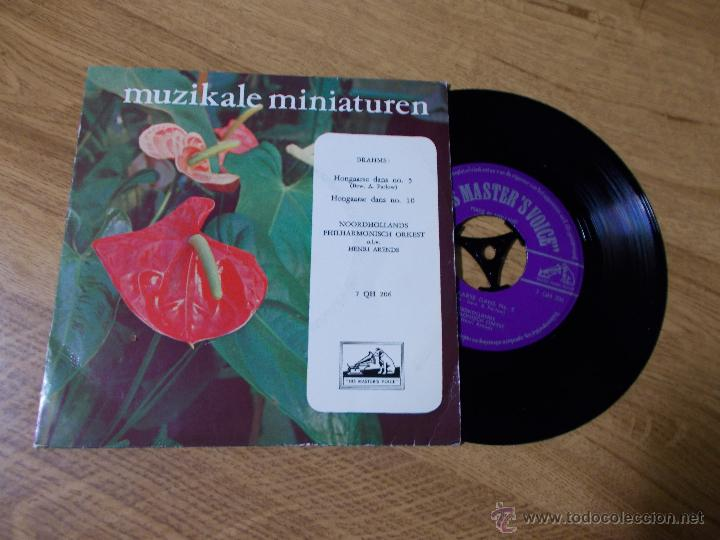 MUZIKALE MINIATUREN. BRAHMS. HONGAARSE DANS Nº 5 HONGAARSE DANS Nº 10 (Música - Discos - Singles Vinilo - Clásica, Ópera, Zarzuela y Marchas)