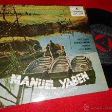 Discos de vinilo: MANUEL YABEN PASTELERO/FRASKUARENA/IRURETA/POTPOURRI VASCO EP 1958 COLUMBIA EUSKERA COMO NUEVO. Lote 47812838