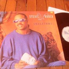 Discos de vinilo: STEVIE WONDER MAXI SINGLE SKELETONS MADE IN SPAIN 1987. Lote 47815745