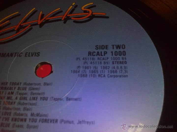Discos de vinilo: Elvis. ROMANTIC ELVIS -20 LOVE SONGS.LP RCA 1982.Rareza - Foto 4 - 199448096