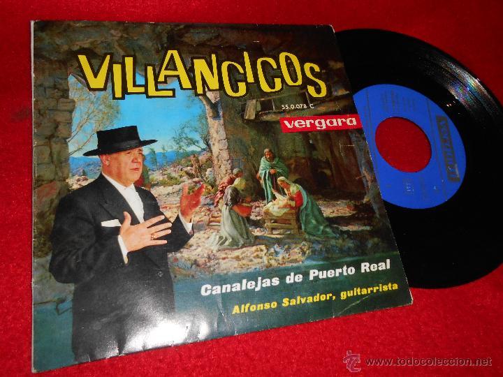 CANALEJAS DE PUERTO REAL&ALFONSO SALVADOR VILLANCICOS.EN UN PORTALITO OSCURO +3 EP 1963 VERGARA (Música - Discos de Vinilo - EPs - Flamenco, Canción española y Cuplé)