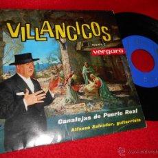 Discos de vinilo: CANALEJAS DE PUERTO REAL&ALFONSO SALVADOR VILLANCICOS.EN UN PORTALITO OSCURO +3 EP 1963 VERGARA. Lote 47826520