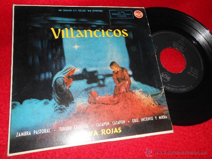 OLIVA ROJAS VILLANCICOS.ZAMBRA PASTORAL/TURURU CELESTIAL/CATAPUN CATAPUN/ORO INCIENSO MIRRA EP 1959 (Música - Discos de Vinilo - EPs - Flamenco, Canción española y Cuplé)