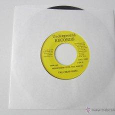 Discos de vinilo: FOUR (4) PREPS - MORE MONEY FOR YOU AND ME/DOWN BY THE STATION 1961/1959 CANADA SINGLE * FUNDA DE PL. Lote 47829377