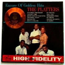 Discos de vinilo: PEDIDO MINIMO 6€ THE PLATTERS ENCORE OF GOLDEN HITS. Lote 47833021
