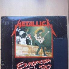 Discos de vinilo: METALLICA - EUROPEAN TOUR '90 - DOBLE LP FIRE RECORDS 1990 FRANCE - PROMO.. Lote 47833117