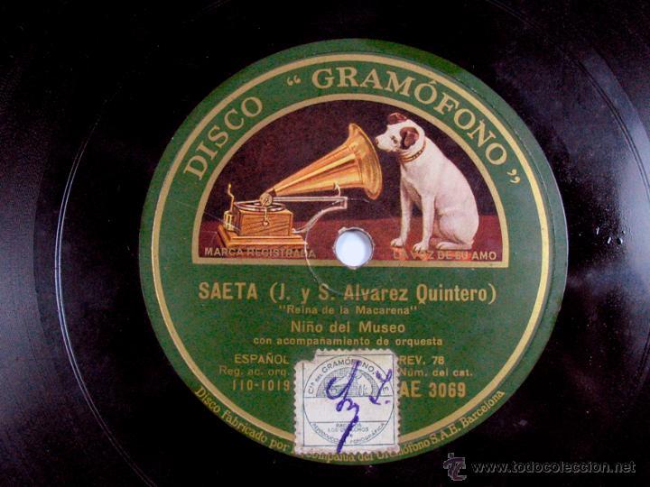 Discos de vinilo: SAETA. NIÑO DEL MUSEO. DISCO GRAMOFONO. FLAMENCO - Foto 2 - 47836904