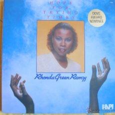 Discos de vinilo: LP - RHONDA GREEN RAMZY - HOPE FOR TRYING TIMES (USA, HEARTLAND RECORDS 1982). Lote 47837015