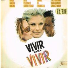 Discos de vinilo: VIVIR PARA VIVIR - BANDA SONORA ORIGINAL DE LA PELÍCULA - LP 1967. Lote 47838539