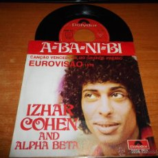 Discos de vinilo: IZHAR COHEN AND ALPHA BETA A-BA-NI-BI / ILLUSIONS EUROVISION ISRAEL1978 SINGLE VINILO HECHO PORTUGAL. Lote 47838598