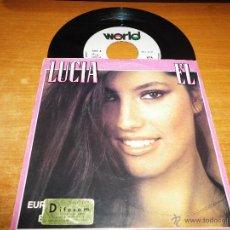 Discos de vinilo: LUCIA EL / TENDRAS QUE DECIDIR EUROVISION ESPAÑA 1982 SINGLE VINILO HECHO EN PORTUGAL 2 TEMAS. Lote 47838857
