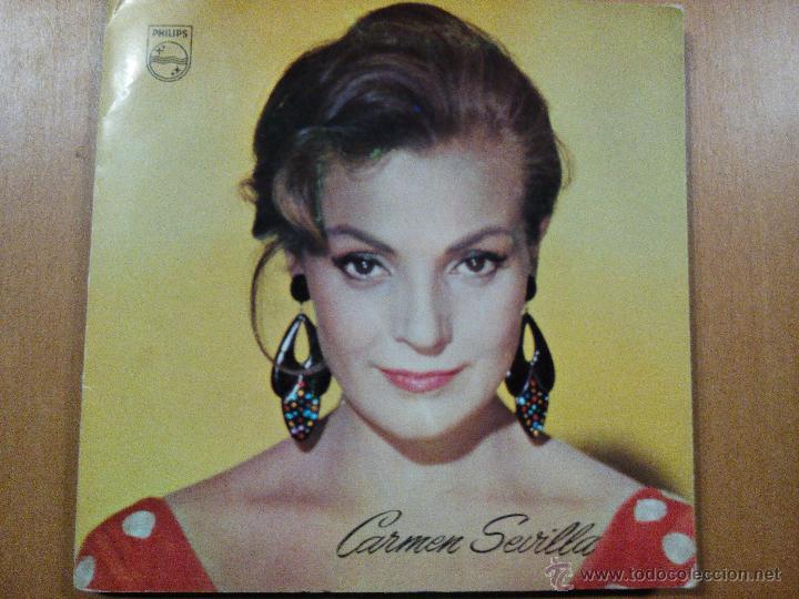 CARMEN SEVILLA - SINGLE VINILO 7' - FLAMENCA YE-YE CARPETA ABIERTA CON FOTO INTERIOR (Música - Discos - Singles Vinilo - Solistas Españoles de los 50 y 60)