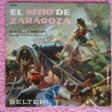 Discos de vinilo: RONDALLA BRETÓN 1961 BELTER 50881 EL SITIO DE ZARAGOZA DISCO VINILO. Lote 50555871