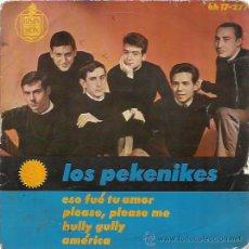 Discos de vinilo: LOS PEKENIKES EP HISPAVOX 1964 ESO FUE TU AMOR/ PLEASE PLEASE ME (BEATLES COVER) +2 JUAN PARDO. Lote 47847248