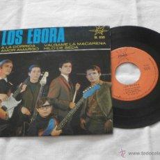Discos de vinilo: LOS EBORA 7´EP AMOR AMARGO + 3TEMAS (1966) EXCELENTE ESTADO. Lote 47848352