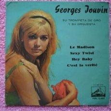 Discos de vinilo: GEORGES JOUVIN 1962 LA VOZ DE SU AMO 13827 LE MADISON SU TROMPETA DE ORO Y SU ORQUESTA DISCO VINILO. Lote 47848567